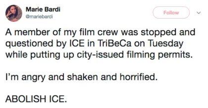ICE tweet