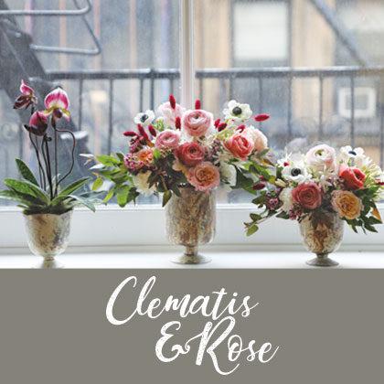Clematis & Rose